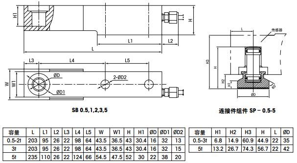 托利多SB-5T产品尺寸图