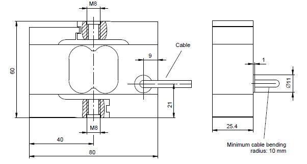 S2M力传感器外形结构尺寸
