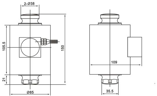 柯力ZSNC-A称重传感器尺寸图