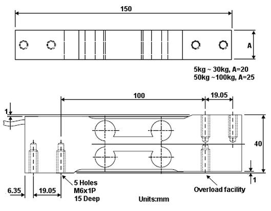 原装进口pt2000-75kg称重传感器-pt2000-75