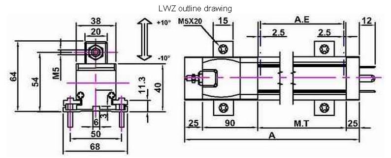 LWZ滑块式位移传感器_德国VOLFA -->  产品品牌:德国VOLFA位移传感器 产品名称:滑块式位移传感器 产品型号:LWZ滑块式位移传感器 产品特点: l 滑块式位移传感器LWZ-A1/V1/V2 l 使用寿命长,高达1亿次 l 量程:0...100mm...1500mm l 线性精度:0.3% MB l 输出:4...20mA,0..