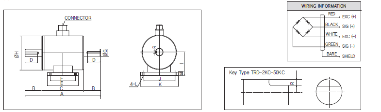 TRD扭矩传感器尺寸