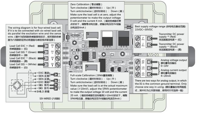 c&v放大器的接线方式